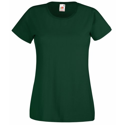 Fruit of the Loom Damen T-Shirt grün Flaschengrün (VERDE BOTELLA) XXL