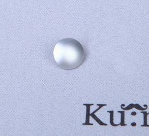 【Ku:ro】 10mm Silver Convex Shutter Release Button for Leica, FUjifilm, Canon, Nikon, Hasselblad, Olympus, Minolta, Wiping Cloth 【凸 Silver】