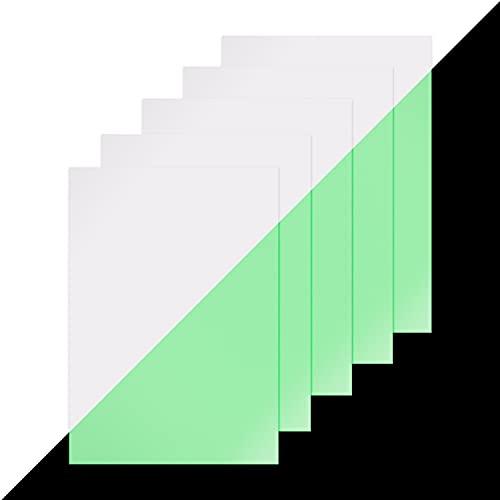 lumentics Premium Leuchtpapier - Grün - DIN A4-5er Set - leuchtet im Dunkeln - langnachleuchtend - bedruckbares Papier - UV Pigmente - vielseitig einsetzbar