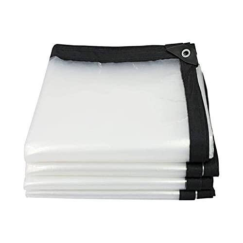 TYHZ Tak presenningsskydd till regn, lätt, tydlig transparent tarp plast, utomhus tunga tarps vattentäta med grommets förstärkta rip-stop armerade kanter Skuggnät (Size : 13x16ft(4x5m))