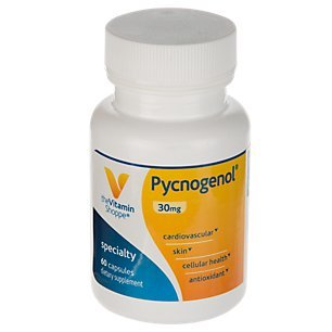 Pycnogenol 30mg Antioxidant That Supports Cardiovascular, Skin Cellular Health (French Maritime Pine Bark Extract) (60 Capsules) by The Vitamin Shoppe