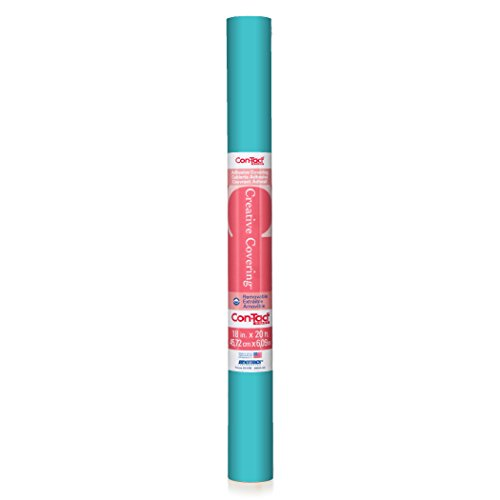 Con-Tact Brand Creative Covering Self-Adhesive Vinyl Drawer and Shelf Liner, 18' x 9', Teal