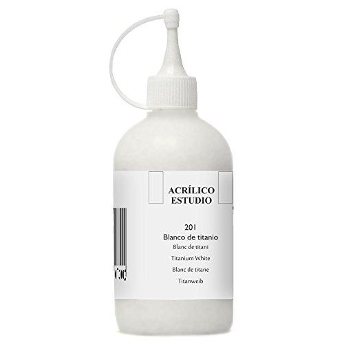 Lienzos Levante 0120522201 - Studio Acrylfarbe, 250 ml Behälter, Farbe 201 Titanweiß