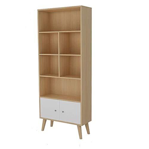 CHENSHJI Houten rekken multifunctioneel houten bibliotheek rek 4 banden houten kastjes meer staat dan een klein vak voor het opbergen van boeken, studie en kantoor