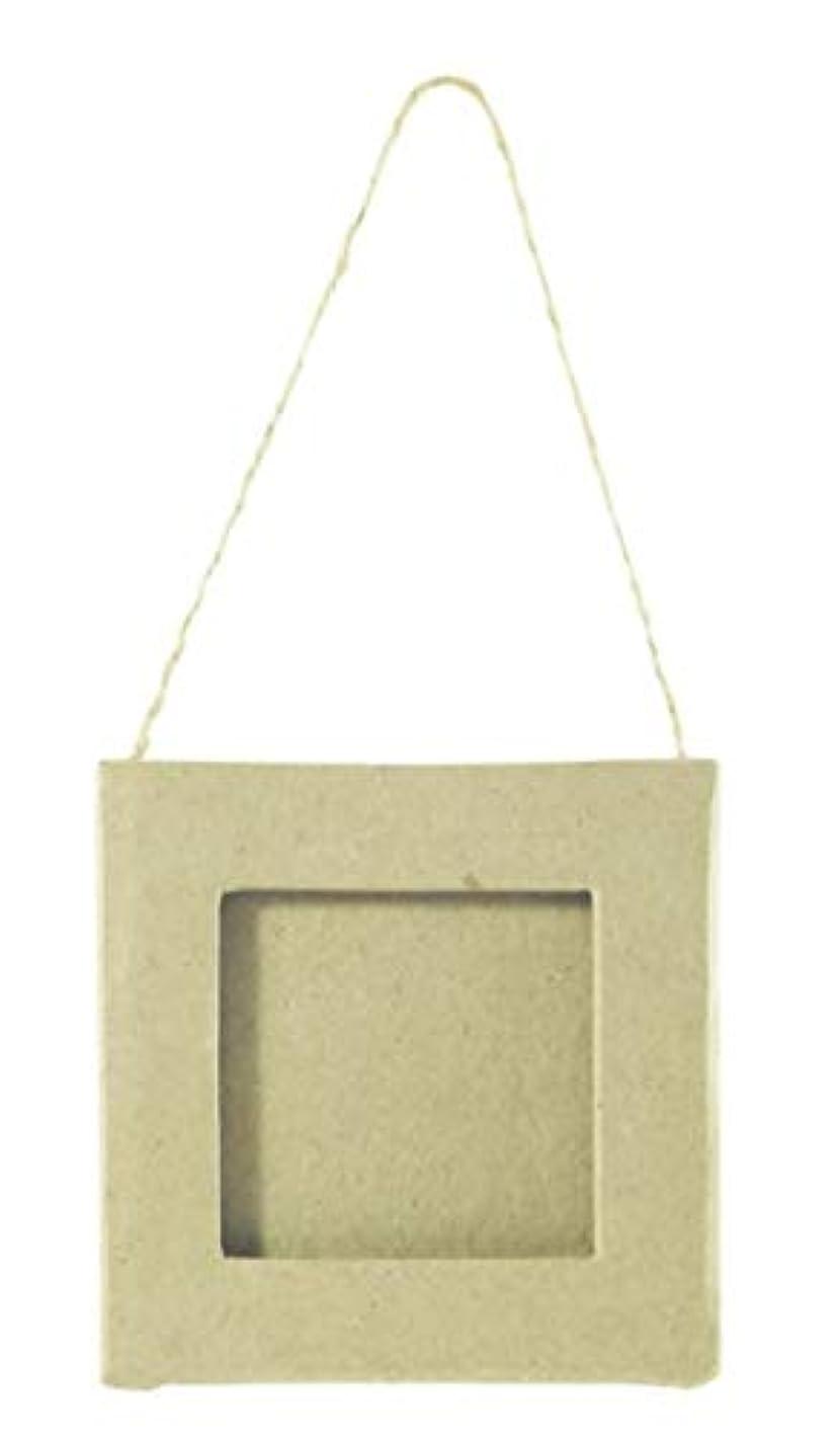 Decopatch Mache Mini Frame - Square, 1x8x8cm - Brown, Paper, 8 x 8 x 0.5 cm