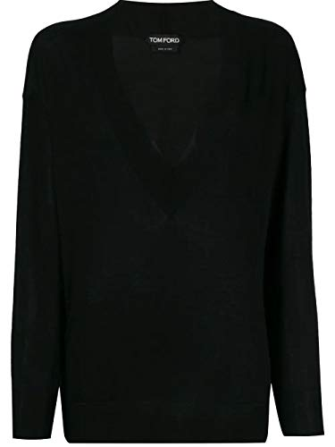 Tom Ford Luxury Fashion Damen MAK912YAX087LB999 Schwarz Kaschmir Sweater | Herbst Winter 20