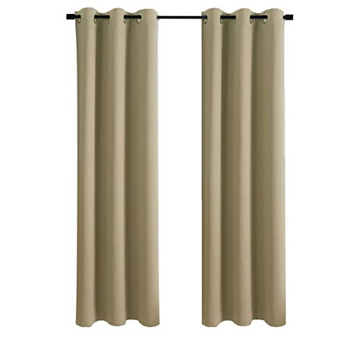 Aquazolax Thermal Insulated Blackout Curtain Panels Eyelets Blackout Curtains 42