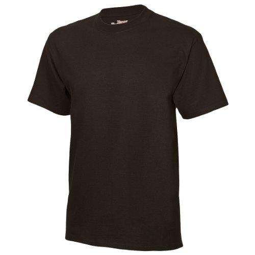 Hanes Herren T-Shirt Tagless Beefy (XLarge) (Schwarz)