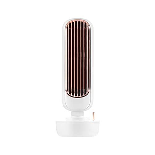 GUIH Aire acondicionado portátil, ventilador de aire acondicionado evaporativo recargable, enfriador de aire personal inalámbrico con para el hogar, oficina y habitación