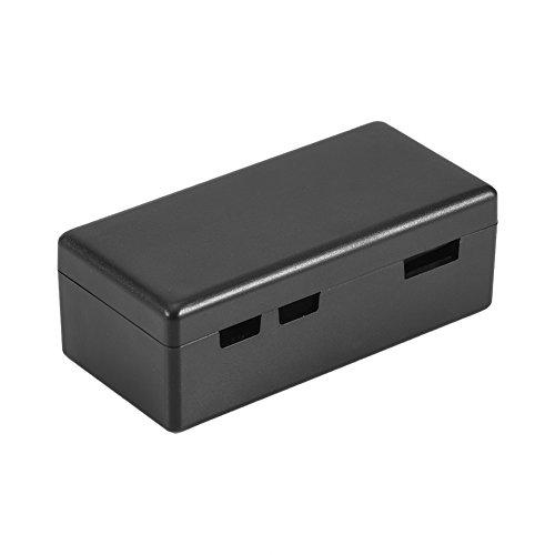 Annadue RPi Zero Enclosure Protective Case, Transparent PC Box, Plastic Shell Cover, Wall Mountable, Access to All Port s, for Rasp berry Pi Zero(black)
