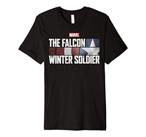 Marvel The Falcon And The Winter Soldier Shield Logo Premium T-Shirt