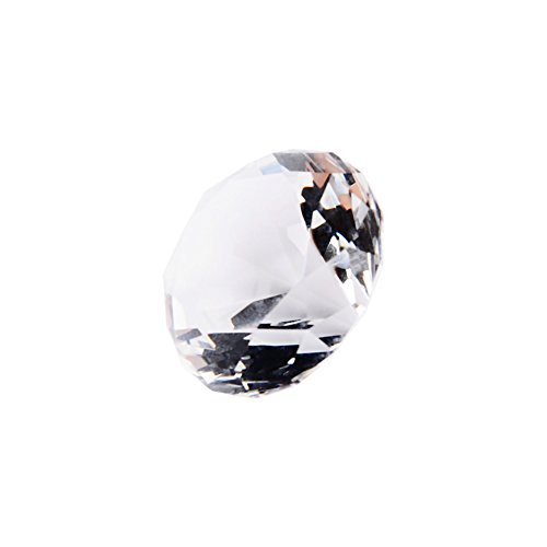 40mm Clear Acrylic Diamond, Crystal Diamond Cut Glass Jewelry Paperweight Wedding Home Decor Vase Fillers Ornament Gift