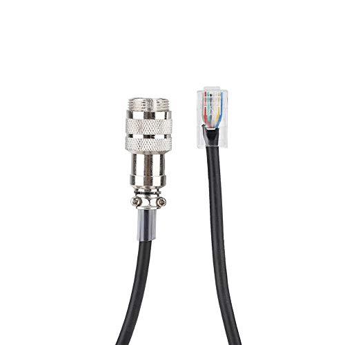 Hakeeta Cable Macho de 8 Clavijas a RJ-45, Adaptador para Yaesu FT-450D FT-897D FT-991 FT-891, Compatible con Varios Tipos de micrófonos