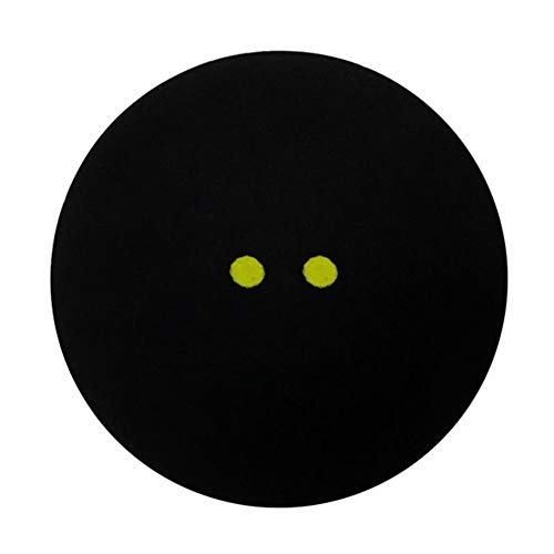 kaaka Professional Player Competition/Training Squash Ball with 2 Yellow Dots Low Speed Racquetball Black