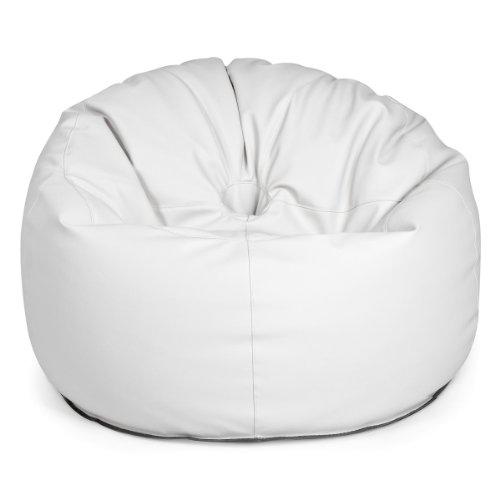 Design Outbag Deluxe Donut Sitzsack 90 x 90 cm Kunststoff Farbe wählbar, Farbe:Cremé