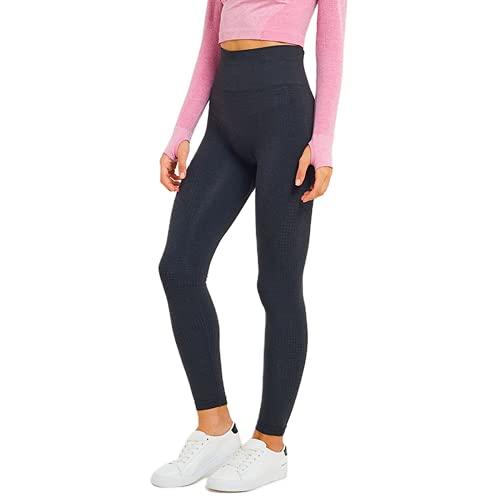 QTJY Pantalones de Yoga para Mujer de Cintura Alta Que levantan la Cadera Pantalones elásticos y de Secado rápido para Correr al Aire Libre Pantalones Deportivos para Celulitis A XL