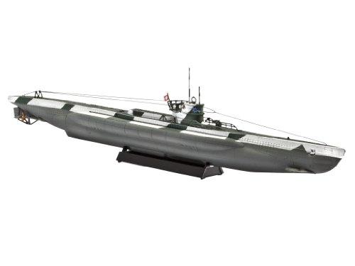 Revell Modellbausatz 05107 - U-Boot Typ VII D im Maßstab 1:350