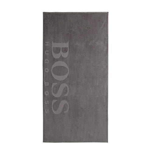 Boss Hugo Toalla de Playa Carved Gris 100x180cm