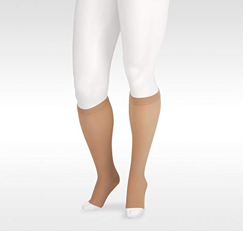 Juzo 2001 20-30mmhg Knee High Compression Open Toe Sock with Silicone Top Band