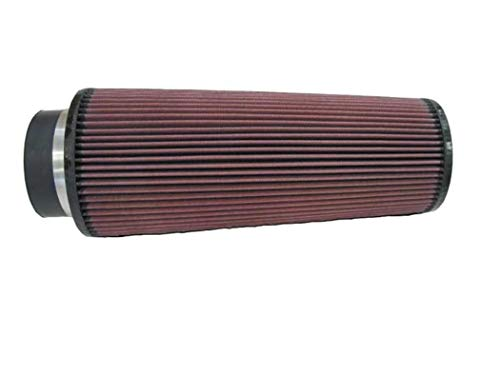 K&N Universal Clamp-On Air Filter: High Performance, Premium, Washable, Replacement Filter: Flange Diameter: 4 In, Filter Height: 14 In, Flange Length: 1.75 In, Shape: Round Tapered, RE-0880