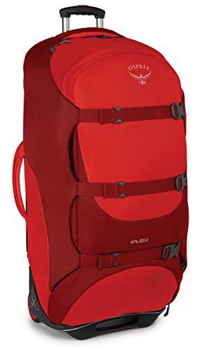 """Osprey Shuttle 36""""/130 L Wheeled Luggage, Diablo Red"""
