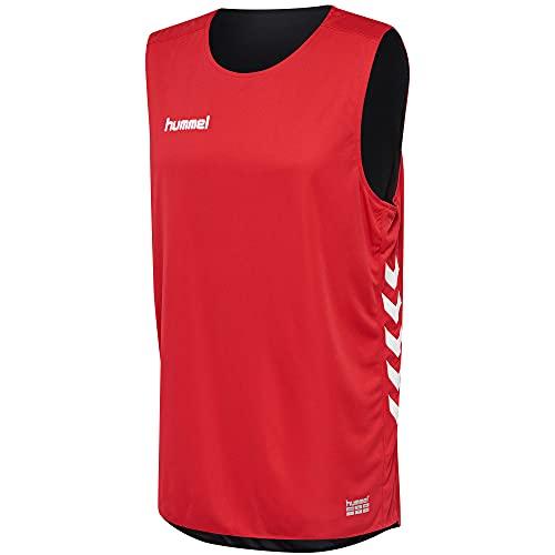 Hummel Camiseta Basket sin Mangas Rojo/Negro 100% poliéster Unisex Talla L