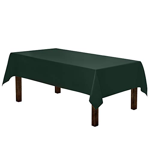 Gee Di Moda Rectangle Tablecloth - 60 x 84 Inch - Hunter Green Rectangular Table Cloth for 5 Foot Table in Washable Polyester - Great for Buffet Table, Parties, Holiday Dinner, Wedding & More