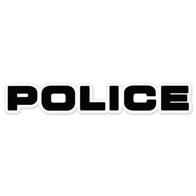 Police Vynil Car Sticker Decal - Select Size