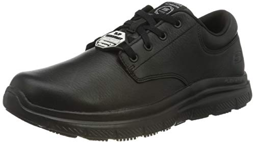 Skechers Flex Advantage Sr Fourche, Zapatos de Vestir par Uniforme Hombre, Black, 41 EU