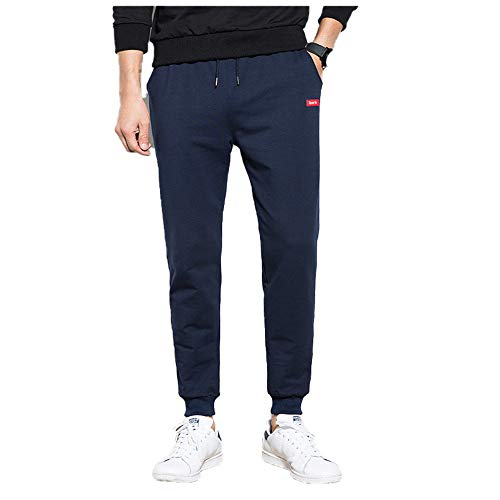 Oukeep Autumn and Winter Men's Drawstring Pocket Casual Pants Slim-Fit Tie-Fit Sports Pants All-Match Fashionable Men's Pants Jogging Daily Pants