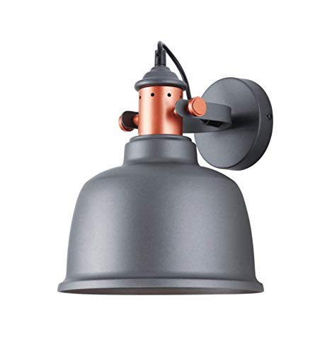 Grote wandlamp, industrieel design, grijs – Dalia
