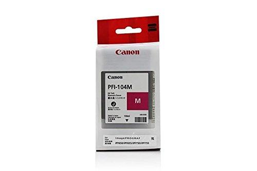 Original de tinta compatible con Canon imagePROGRAF IPF 750Canon de 104, pfi104m 3631b001, 3631B001AA–PREMIUM Impresora de tinta–Magenta–130ml