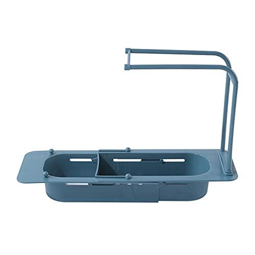 Mecia Estantería para drenaje de fregaderos telescópicos con 10 filtros para el baño o la cocina