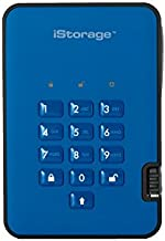 iStorage diskAshur2 256-bit 2TB SB 3.1 secure encrypted hard drive - Blue IS-DA2-256-2000-BE
