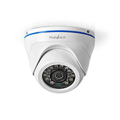 Nedis Cámara de Seguridad CCTV Nedis - Cámara de Seguridad CCTV - Domo - Full HD - Compatible con AHD/TVI/CVI y Tecnología Analógica Negro/Blanco 0.60 m