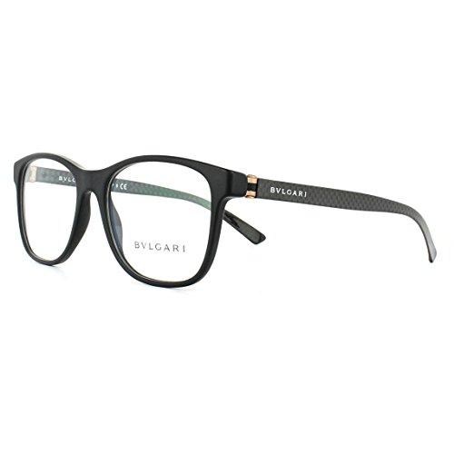Bulgari 0BV 3036 5313 55 zonnebril voor heren, zwart (mat zwart)
