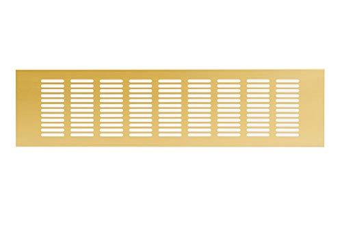 Goud - 100 x 500 mm aluminium ventilatierooster hoekplaat ventilatie aluminium rooster meubilair rooster meubelventilatie