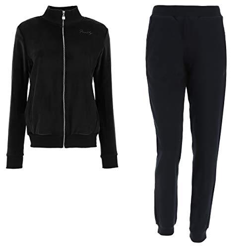 FREDDY Tuta con top in ciniglia e pantaloni in cotone - Nero - Small