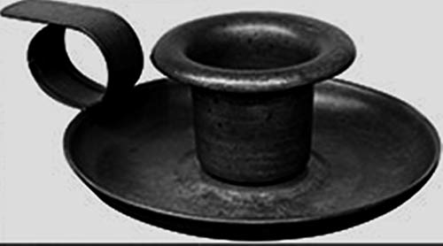 Rustic Farmhouse Style Candle Holders (3 inch Antique Teacup Candleholder 1 pc Black)