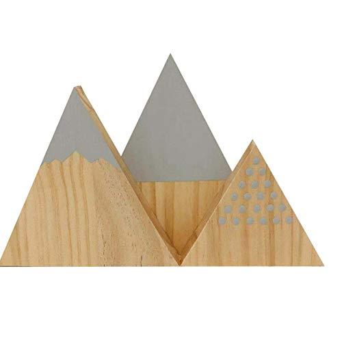 Garre tlin - Juego de 3 adornos de estilo nórdico con triángulo de nieve para decoración de hogar, dormitorio, sala de estar, fotografía, color gris