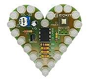 CESULIS DIYキットハートの形の呼吸ランプキット呼吸LEDスイート赤ホワイトブルーグリーン電子生産学習研究室 (Color : White)
