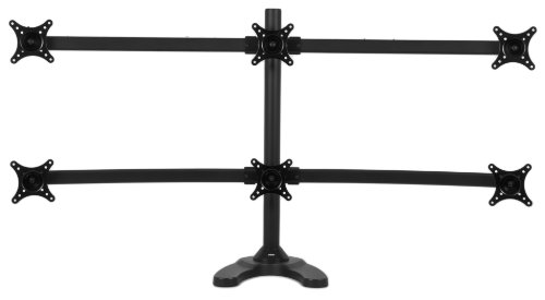Pwr Hex Arm LCD LED Monitor Stand Desk Mount Bracket Heavy Duty & Fully Adjustable 6 Screens up to 24''
