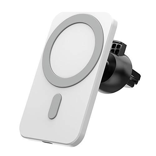 TOPmontain 15 W cargador inalámbrico de coche magnético soporte del teléfono soporte magnético adsorbable coche montaje inalámbrico carga rápida para iPhone 12 12 Pro 12Pro Max 12Mini