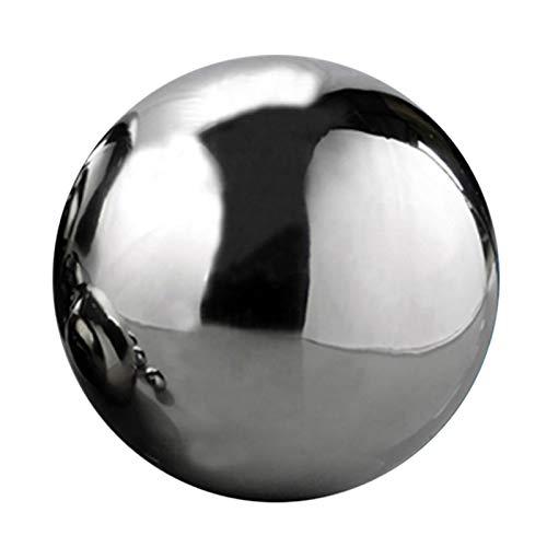 Spiegelkugel Gartenkugeln Edelstahlkugeln Nahtlose Dekokugeln Gebürstet Hohlkugel Silberkugel Teichkugeln in 9 Unterschiedlichen Größen (1.9cm/3.8cm/5.1cm/8cm/10cm/12cm/15cm/20cm/30cm) (200mm)