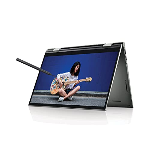 """Dell Inspiron 7415 14"""" FHD Touch Display 2in1 Laptop (R5 5500U / 8GB / 512GB SSD / Integrated Graphics / Win 10 + MSO / Backlit KB + FPR + Active Pen /Pebble Metal Color) D560470WIN9P"""