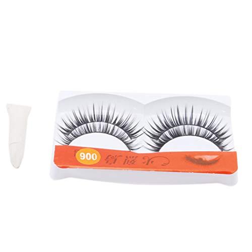 PASDD 2 Pairs 3D Lashes Multipack, False Eyelashes Natural Fluffy Thick Soft Reusable Long Eyelashes for Makeup Eyelashes Extension, Handmade Fake Eye Lashes