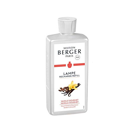 Lampe Berger 115017 Fragranza Vanilla Gourmet, Liquido, Argento, 7.8 x 5 x 18.5 cm