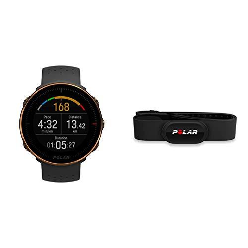 Polar Vantage M – Allround-Multisportuhr mit GPS und optischer Pulsmessung am Handgelenk & H10 Herzfrequenz-Sensor, Schwarz, M-XXL, Unisex, ANT+, EKG, Wasserdichter Herzfrequenz-Sensor mit Brustgurt