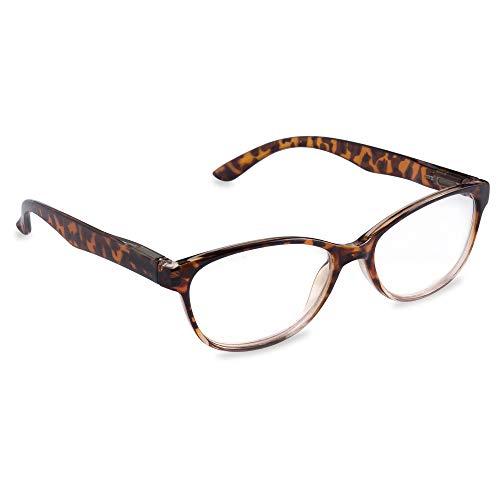 DII Womens Tortoise Reading Glasses Brown 3.0