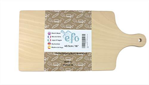 Tagliere in legno di faggio, sagomato a forma di pala, Legno, Natural Beech Wood, 40.5x19x1.5cm